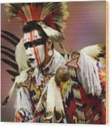 Pow Wow Chicken Dancer 1 Wood Print