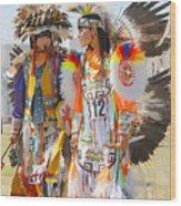 Pow Wow Contestants - Grand Prairie Tx Wood Print