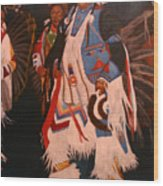 Pow Wow  Dancer  Wood Print