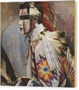 Pow Wow First Nation Dancer Wood Print