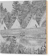 Pow Wow Wood Print