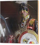 Pow Wow Portrait Of A Proud Man 2 Wood Print