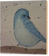 Powder Blue Wood Print by Ginny Youngblood
