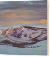 Powder Mountain Wood Print