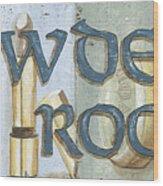 Powder Room Wood Print