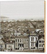 Powell Street Between Sacramento And California San Francisco Circa 1866 Wood Print