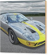 Power And Performance - Ford Gt40 Wood Print