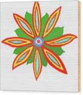 Power Flower Wood Print