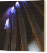 Power Glow Wood Print by Barbara  White