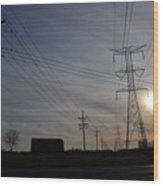 Power Grid Wood Print