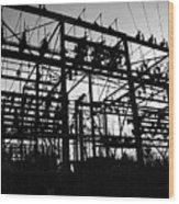 Power Grid In Oregon Wood Print