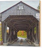 Power House Covered Bridge Wood Print