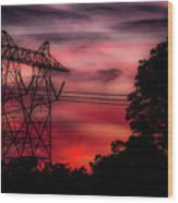 Power In Red Wood Print