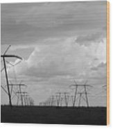 Power In The Sky Wood Print