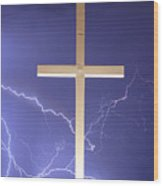 God Power Wood Print