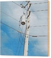Power Line Boogie Woogie Wood Print