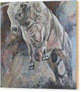 Power Of The Bull Wood Print