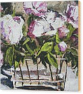Power To The Peonies Wood Print