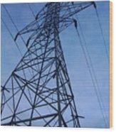 Power Tower Wood Print