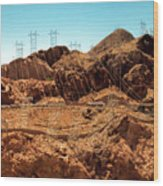 Power Transport From Hoover Dam Wood Print