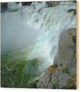 Powerful Large Waterfall Shoshone Falls Amazing Beauty Water Fal Wood Print