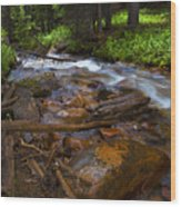 Powerful Spring Runoff Wood Print