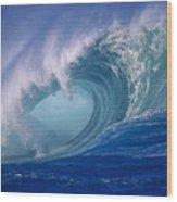 Powerful Surf Wood Print