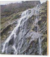 Powerscourt Waterfall In Ireland Wood Print