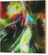 Powwow Dancer Abstract Wood Print