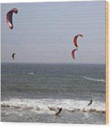 pr 122 - Five Windsurfers Wood Print