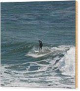 pr 127 - Solo Surfer Wood Print