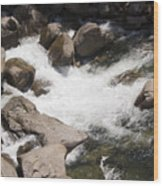 pr 144 - White Water on the Merced Wood Print