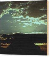 pr 171 - Green Sunset II Wood Print