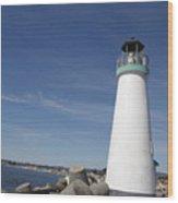 pr 191 The Harbor Lighthouse Wood Print