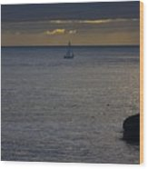 pr 237 - Evening Sail Wood Print