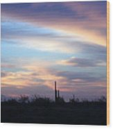 pr 244- Lone Squareo Wood Print
