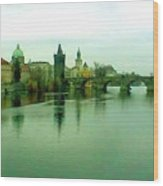 Prague  1 Jgibney 2000 City Bridge 2010 Wood Print