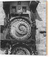 Prague Astronomical Clock 1410 Wood Print