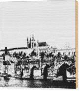 Prague Castle And Charles Bridge Wood Print by Michal Boubin