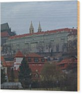 Prague Castle In Prague Czech Republic Wood Print