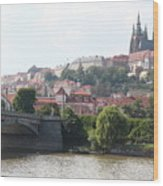 Prague Castle Wood Print