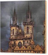 Prague Cathedral Wood Print