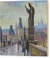 Prague Charles Bridge 04 Wood Print