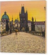Prague - Charles Bridge - Czech Republic Wood Print