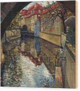 Prague Chertovka 3 Wood Print by Yuriy  Shevchuk