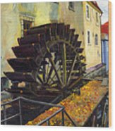 Prague Chertovka Wood Print