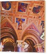 Prague Church Ceiling Wood Print