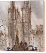 Prague Iv Wood Print by Svetlana and Sabir Gadghievs