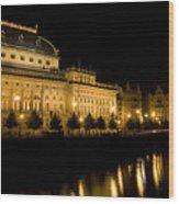 Prague National Theatre Wood Print