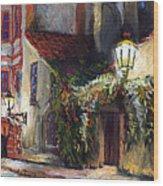 Prague Novy Svet Kapucinska Str Wood Print